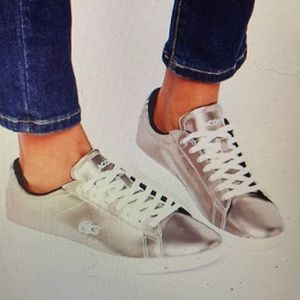 """""""LACOSTE"""" """"Carnaby""""  Rose Gold Ladies Sneakers."""